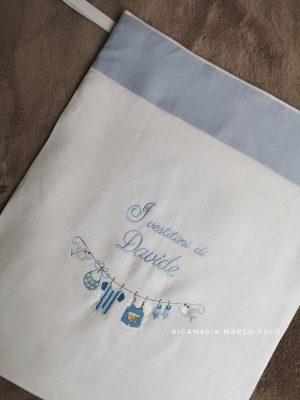 Panni stesi azzurro