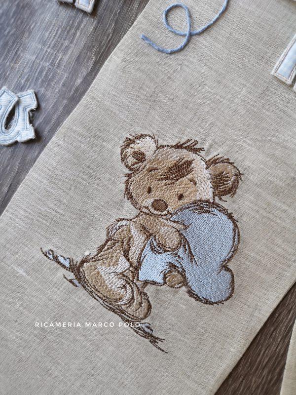 Benvenuto teddy lino tortora