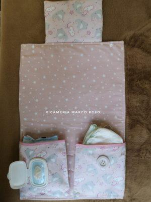 Portapannolini con fasciatoio e cuscinetto