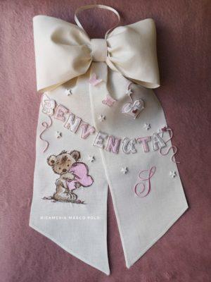 Benvenuta teddy rosa