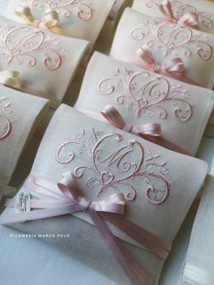Bustina principessa rosa perla