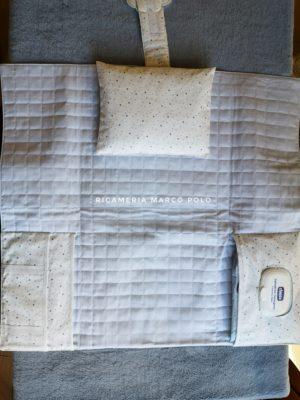 Portapannolini con fasciatoio e cuscino staccabile
