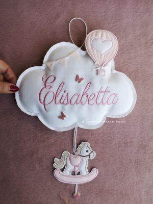 Nuvola, mongolfiera e cavalluccio rosa