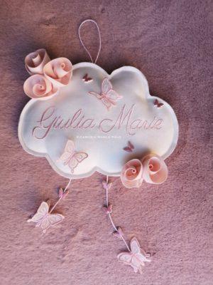 Nuvola, rose e farfalle cipria chiaro