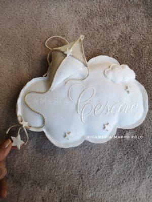 Nuvola e aquilone lino bianco e dettagli in tortora