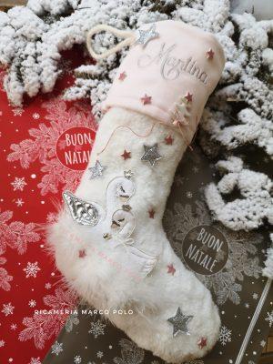 Cigni, bianca e rosa con dettagli argento