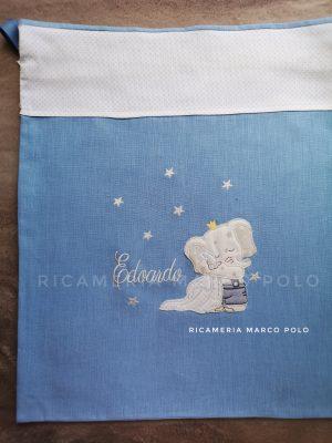 Elefantino e copertina, azzurro lago